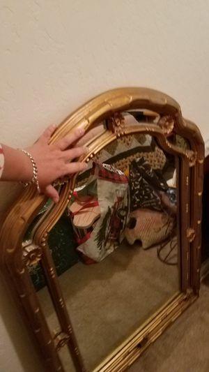 Beautiful antique golden heavy large mirror for Sale in Casa Grande, AZ