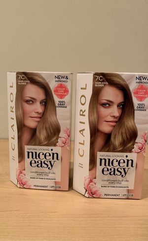 Set of 2 Clairol Nice n Easy dark cool blonde hair color for Sale in Alexandria, VA