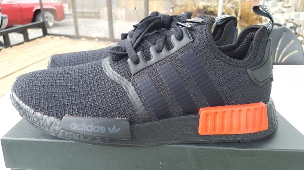 size 40 90a3d 3a706 Adidas NMD R1 Black/Lust Red B37618 Size 9 for Sale in Indianapolis, IN -  OfferUp