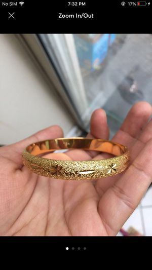 18k gold filled 18k Stamped bangle bracelet jewelry for Sale in Silver Spring, MD