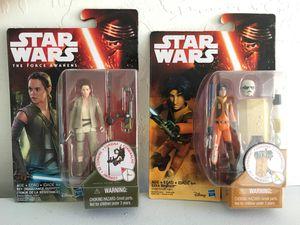 ($4 for Both) NEW Star Wars Rey (Resistance Outfit) & Ezra Bridger Figures/ Toys, Hasbro, Disney for Sale in Phoenix, AZ