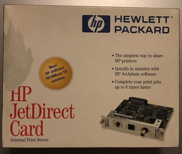 HP J2550 60013 JetDirect 10Base-T Ethernet Print Server