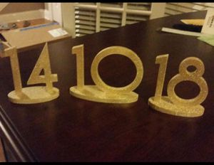 Wood table numbers 1-18 for Sale in Tampa, FL