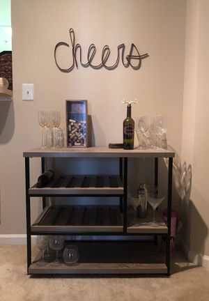 Kitchen cart or bar rack for Sale in Arlington, VA