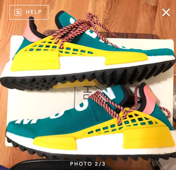 hot sale online 577f0 4a38e Adidas Pharrell Williams Human Race Trail Nmd Boost sz 7.5