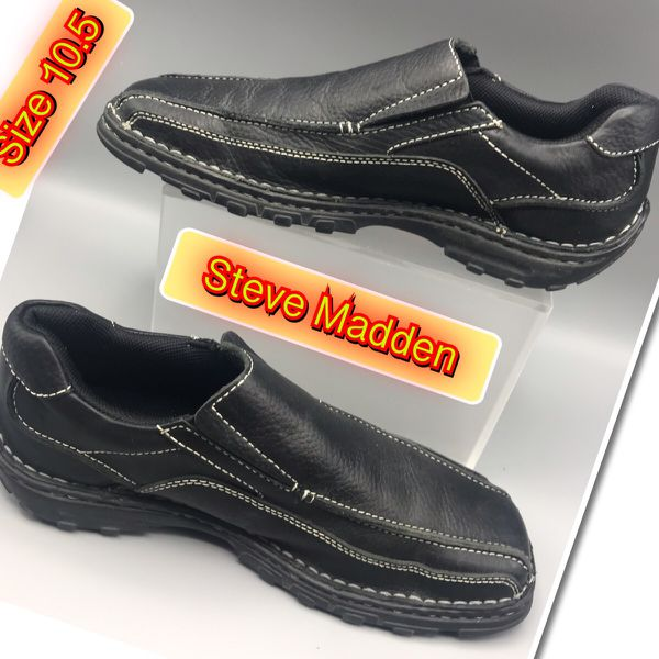 d69bb54b6e0 Steve Madden Leather Black Slip On Shoes for Sale in Red Bank, NJ - OfferUp