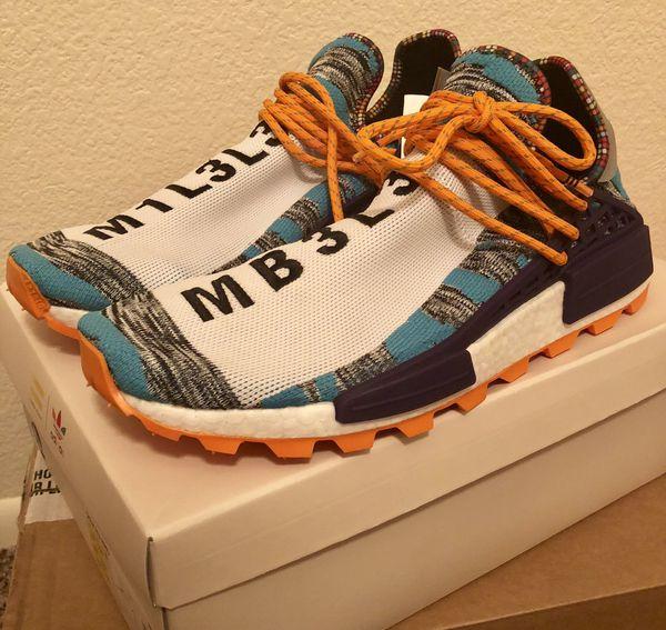 22beb5752cc71 2018 Adidas Human Race NMD Size 13 Hu Pharrell Solar Pack Orange Retro  BB9528