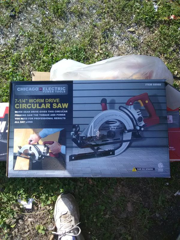 Chicago Electric 7 Quarter Inch Circular Saw Worm Drive For Sale In