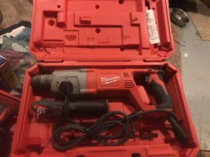 Milwaukee 1inch sds rotary hammer kit for Sale in Silver Spring, MD