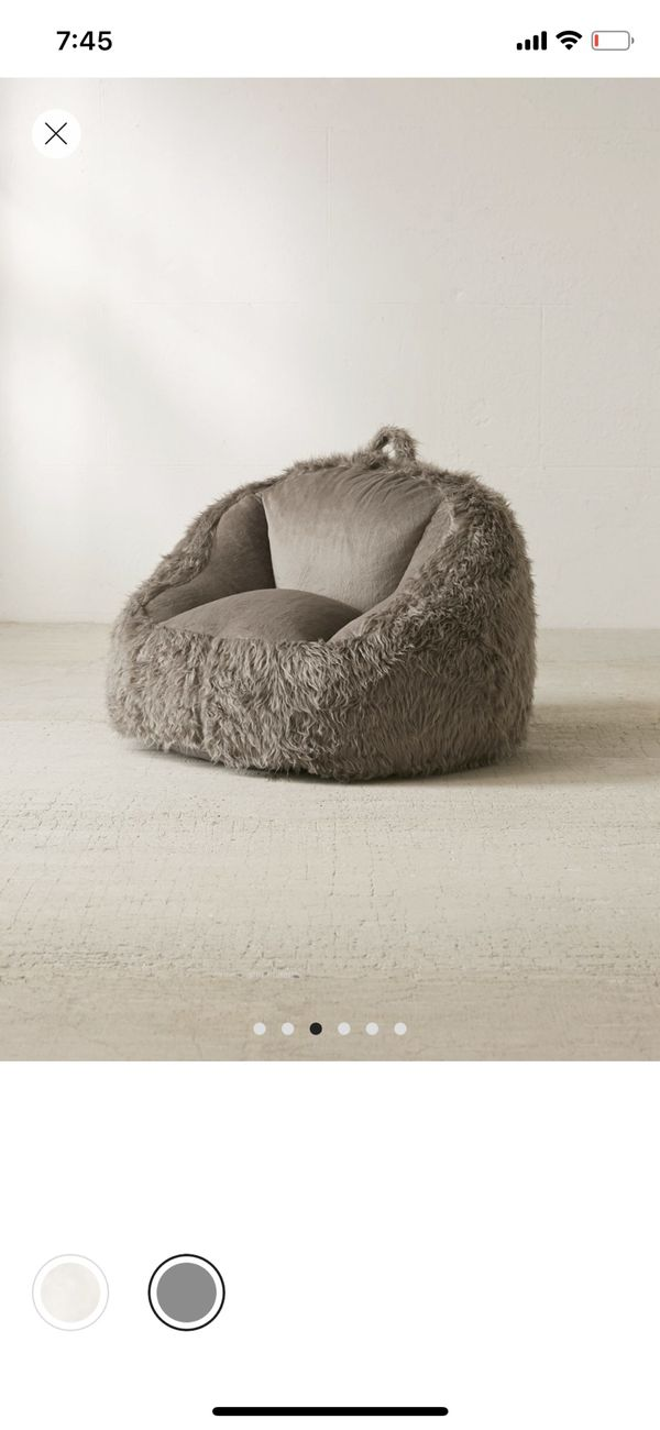 Outstanding Faux Fur Bean Bag Chair For Sale In Chicago Il Offerup Alphanode Cool Chair Designs And Ideas Alphanodeonline