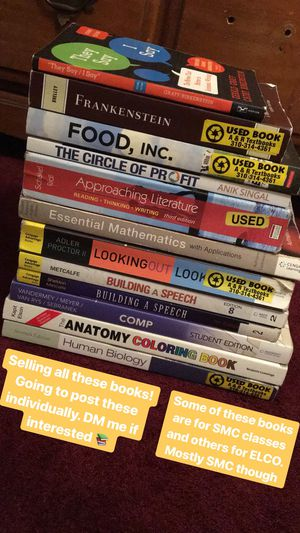 English, Biology, Anatomy, college books for SALE! for Sale in Inglewood, CA