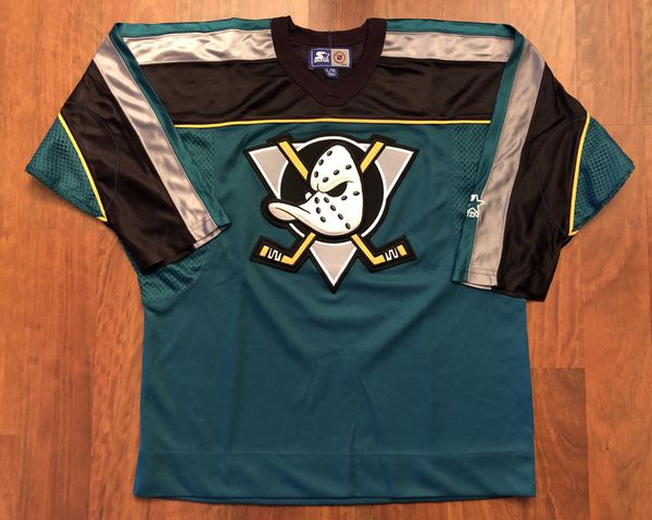 Vintage Starter Anaheim Mighty Ducks Alternate Home Jersey Youth Large XL e5f9d6b2b