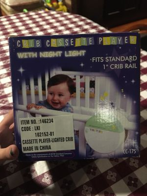 Baby crib cassette player / night light for Sale in Glen Allen, VA