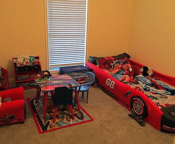 Turbo Race Car Bedroom Set with Twin Mattress (Furniture) in Boca ...