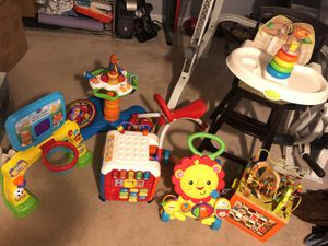 Multiple toys and high chair for Sale in Fairfax, VA