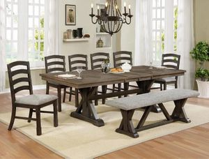 Photo Brand New Crown Mark Dining Room Set