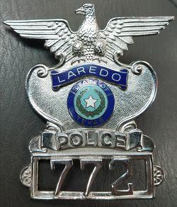 Laredo Texas State Police Badge Vintage Thumbnail