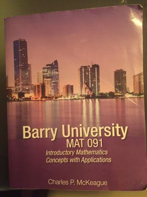 MAT 091 Barry University for Sale in Miami, FL