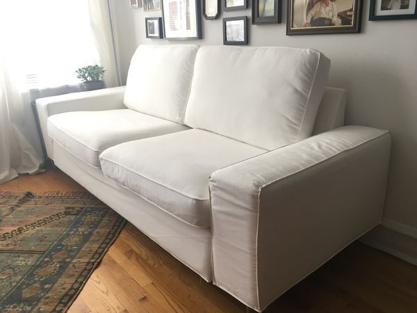 Magnificent Ikea Kivik Sofa In White Twill For Sale In Chicago Il Offerup Evergreenethics Interior Chair Design Evergreenethicsorg