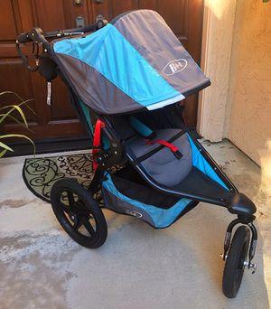 BOB Revolution Pro All-Terrain Jogging Stroller 2016 - Lagoon w car seat adapter for Sale in Solana Beach, CA