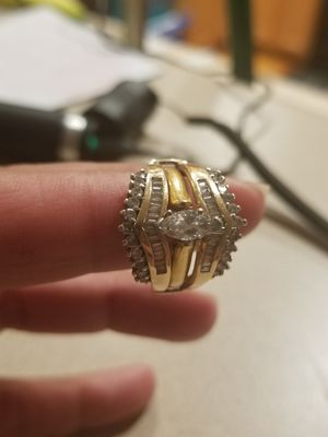 Wedding ring and engagement ring 14k yellow gold for Sale in Apex, NC