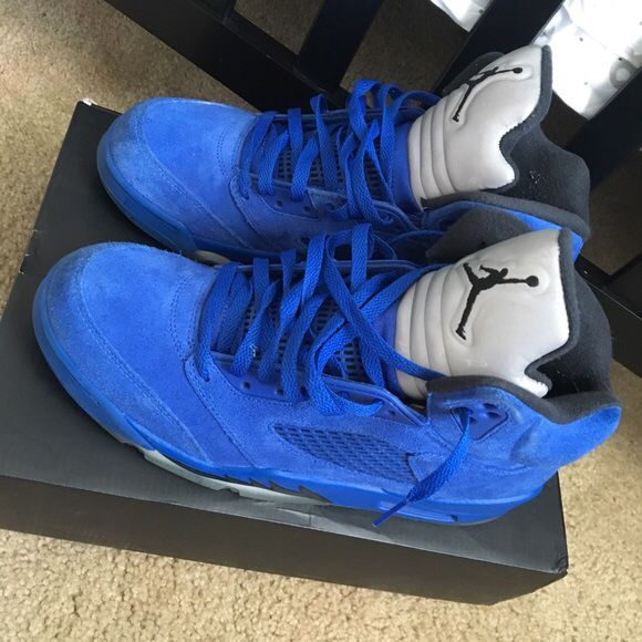 new concept 00f96 92f51 Blue suede 5s Sz 8.5 for Sale in Stockton, CA - OfferUp