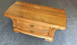 Authentic Belgium made and bought solid oak coffee table for Sale in Rockville, MD