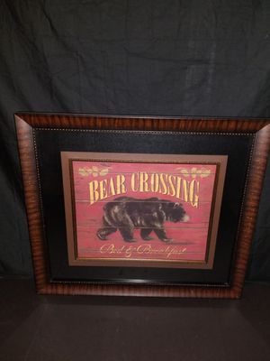 "Bear Crossing Wall Art 27""×31"" Retail $99 for Sale in Austin, TX"