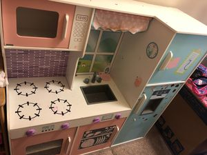 Photo Wooden kids kitchen