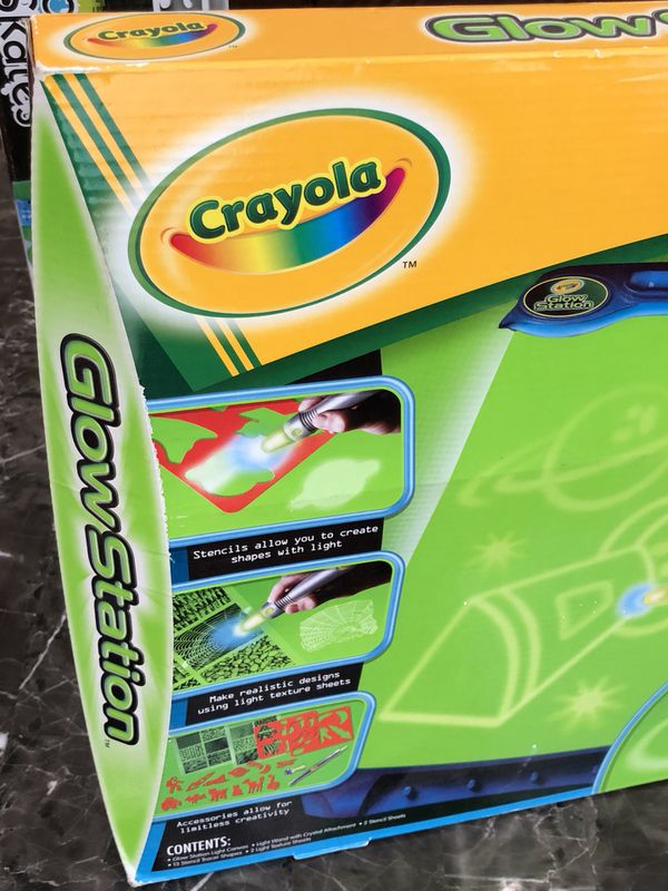 game crayola glow station create with light 13 pencils tracer