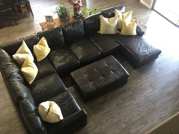 Fabulous Mayfair Deluxe Brompton Leather Sectional For Sale In Pdpeps Interior Chair Design Pdpepsorg
