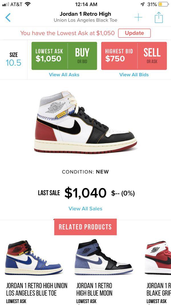 8b2dda5ddb1 Union x Air Jordan 1 black toe for Sale in Buena Park