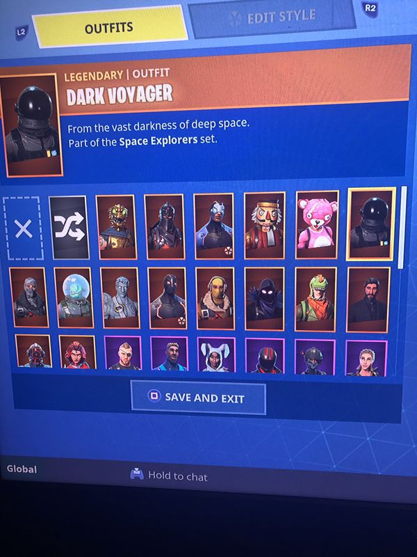 stacked fortnite account ps4 - fortnite account ps4