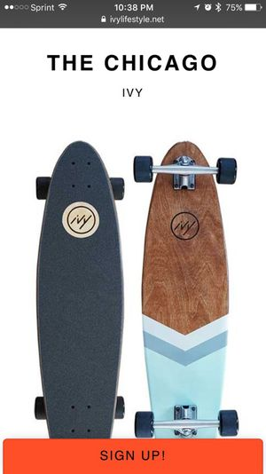 """""""The Chicago"""" longboard by IVY for Sale in Dallas, TX"""