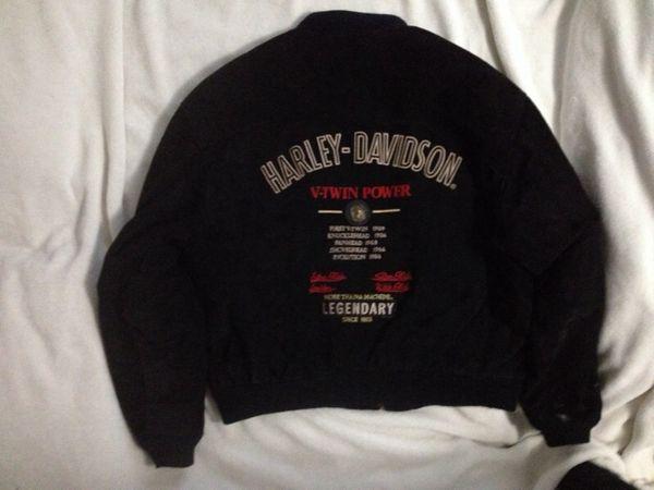 Vintage Harley Davidson V Twin Power Leather Suede Jacket Clothing