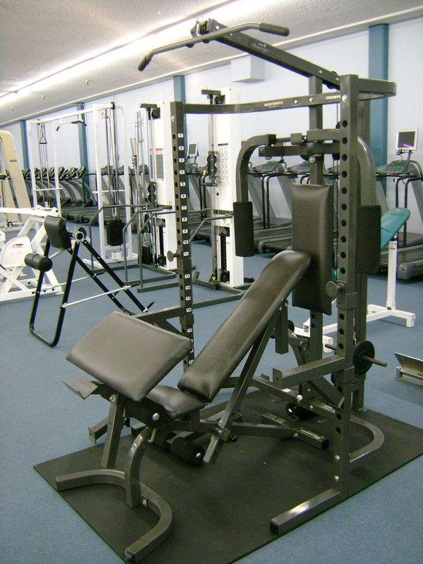 Bodysmith Parabody Power Rack Squat Pec Dec Olympic Rack