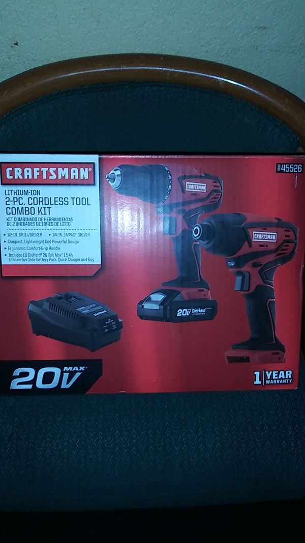 d2025bd5f3 Craftsman 20 Volt 2 piece drill and driver combo for Sale in West ...