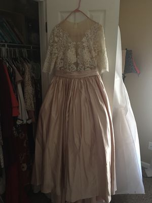 Beige lace wedding gown for Sale in Indianapolis, IN