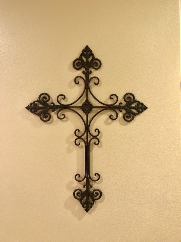 Wrought iron cross wall hanging wall art (Household) in Chino Hills ...