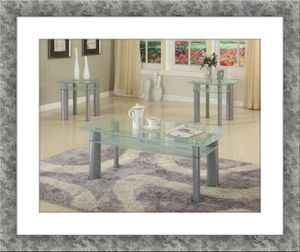 Glass white coffee table for Sale in McLean, VA