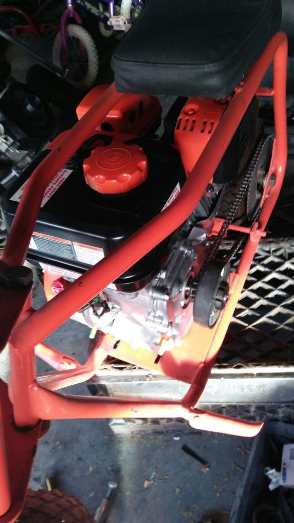 Ruttman mini bike frame new 6.5 engine with out governor new clutch ...