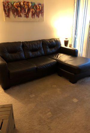 Dark Brown L Shaped Couch for Sale in Glen Burnie, MD