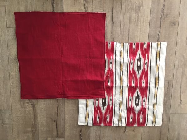 Pottery Barn Christmas Pillow Covers 24 Red Ikat For