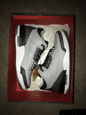 Air Jordan III Retro Wolf Grey Men Sizes 9.5 & 10.5 Available Brand new original box $220 Local $220 + Shipping anywhere else. for Sale in Centreville, VA