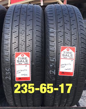 Photo 2 used tires 235/65/17 Continental