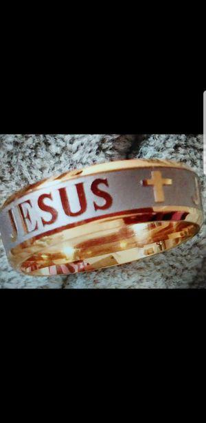 JESUS Stainless steel ring for Sale in Farmville, VA