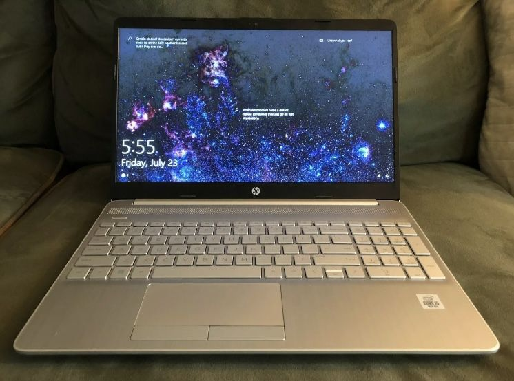 "HP 15-dw2025cl 15.6"" T/S Laptop -- Intel Core i5-1035G1**12GB**1TB HDD**Win 10"
