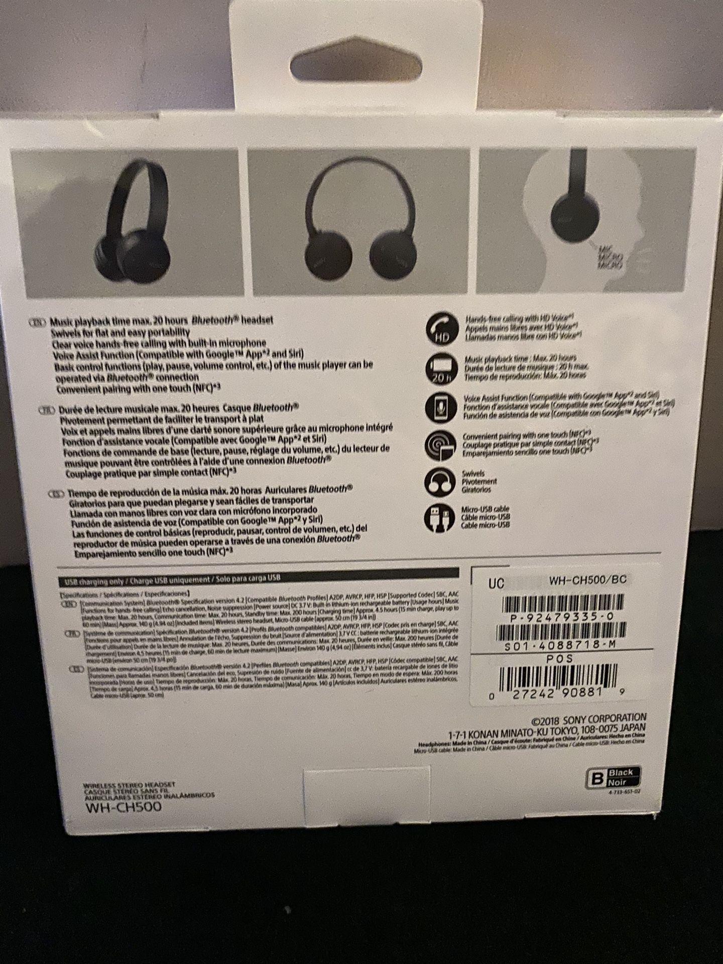 Sony WH-CH500 Wireless On Ear Headphones