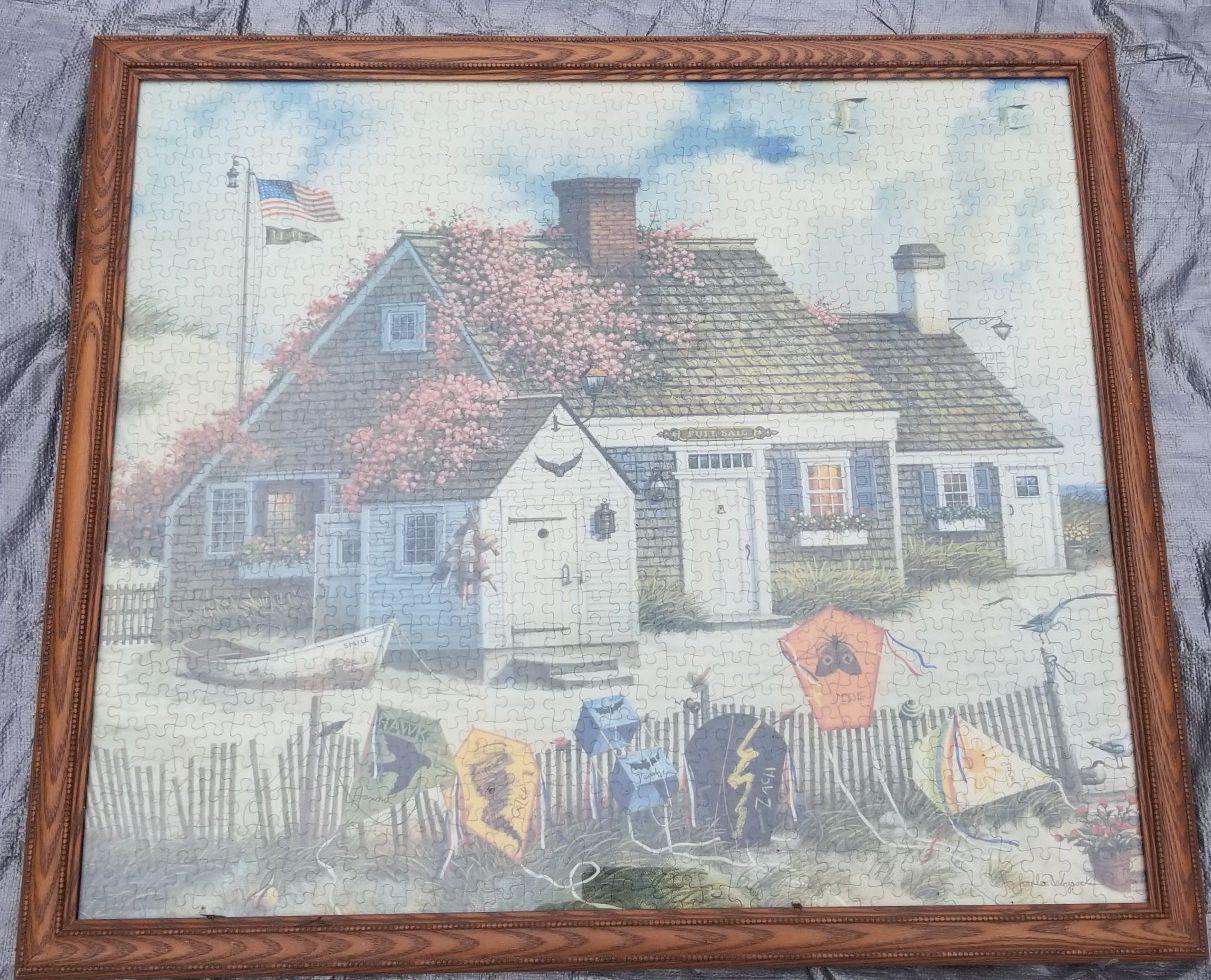 Framed Beach Puzzle