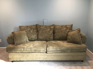 Suede Couch 80x30x34 and Suede Loveseat 63x30x34 for Sale in Silver Spring, MD
